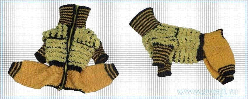 Вязание комбинезона для собаки.